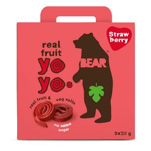 BEAR - STRAWBERRY YO YOs - 10 FRUIT ROLLS (5 packs)