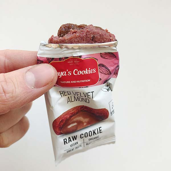 LEYA'S COOKIES - RED VELVET ALMOND RAW COOKIE
