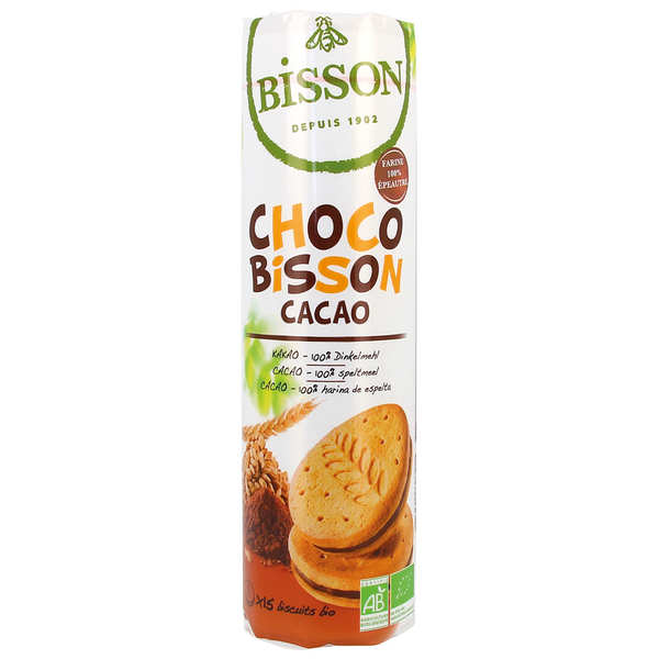 BISSON - CHOCO CACAO 15 X BISCUITS