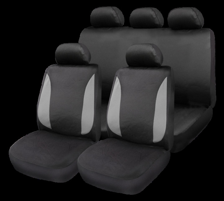GEAR & GO POLYESTER CAR SEAT COVER SET GREY/BLACK COLOR