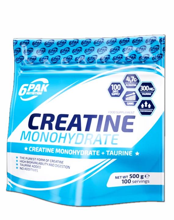 6PAK - Creatine Monohydrate 500g