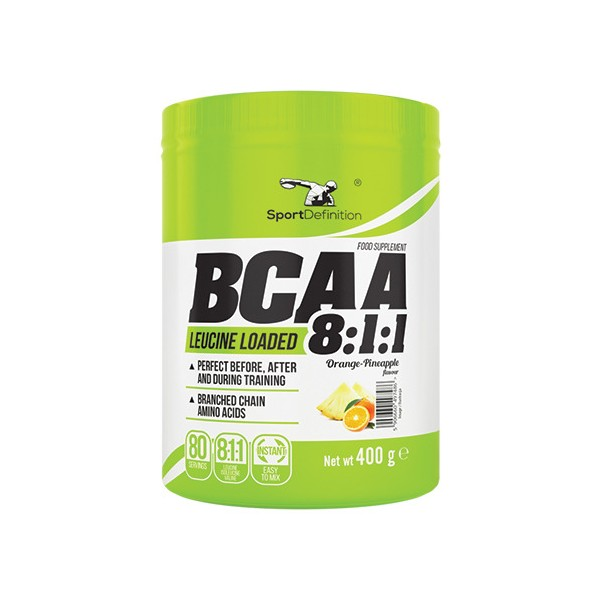 Sport Definition BCAA 8.1.1 400g - Orange+ Pineapple