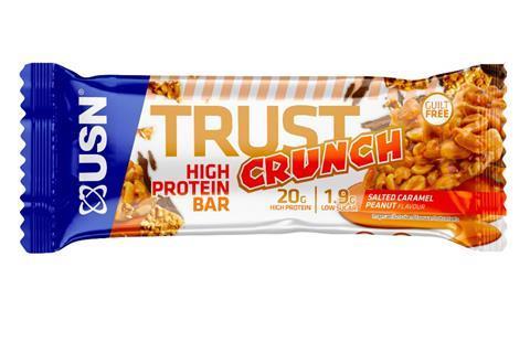 USN TRUST CRUNCH BAR - Salted Caramel Peanuts