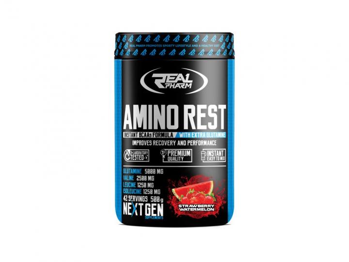 Real Pharm Amino rest 500g - Strawberry watermelon