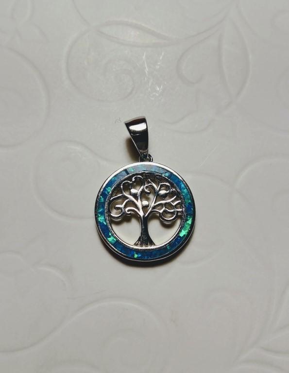 Tree of Life mini Pendant - Blue - 1,5x1,5cm