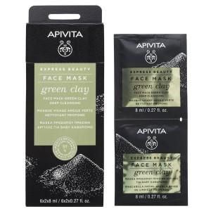 Apivita Express Beauty Deep Cleansing Face Mask - Green Clay 2x8ml