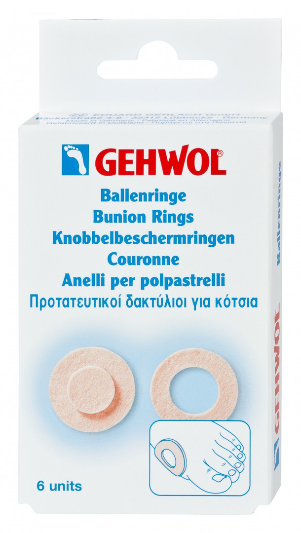 Gehwol Bunion Ring Oval & Round Plasters 6 pcs