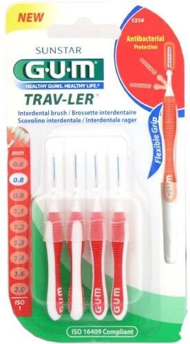 Gum 1314 Trav-ler Proxabrush 0.8mm Red