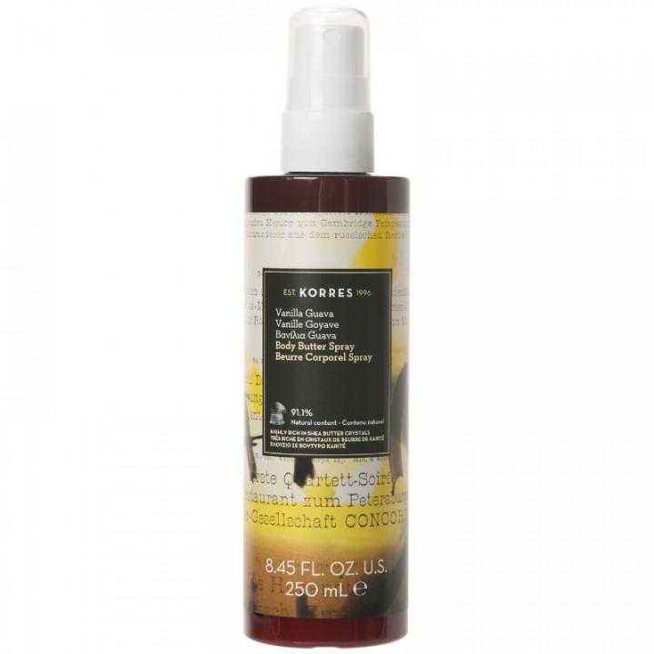 Korres Body Butter Spray Vanilla Guava 250ml