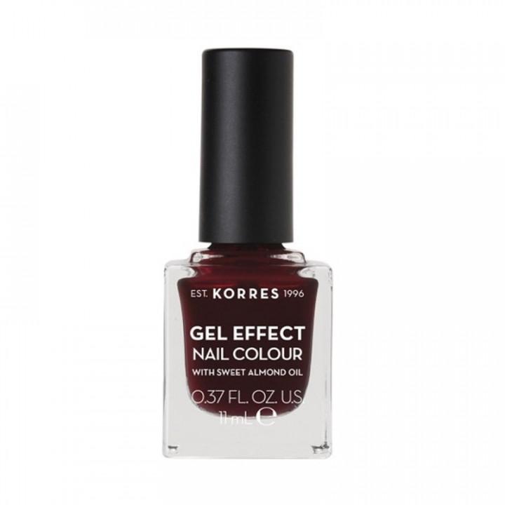 Korres Gel Effect Nail Color 57 Burgundy Red