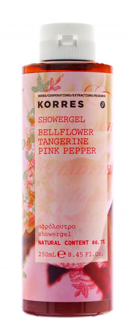 Korres Shower Gel Bellflower Tangerine Pink Pepper 250ml