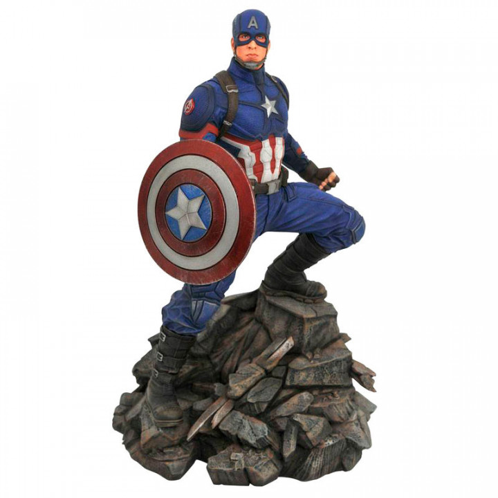 Diamond Select Toys - Avengers Endgame Captain America  Premier Collection - Resin Statue Limited Edition