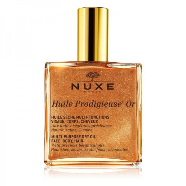 Nuxe Hp Or Dry Oil - Golden Shimmer for Face/Body/Hair 100ml