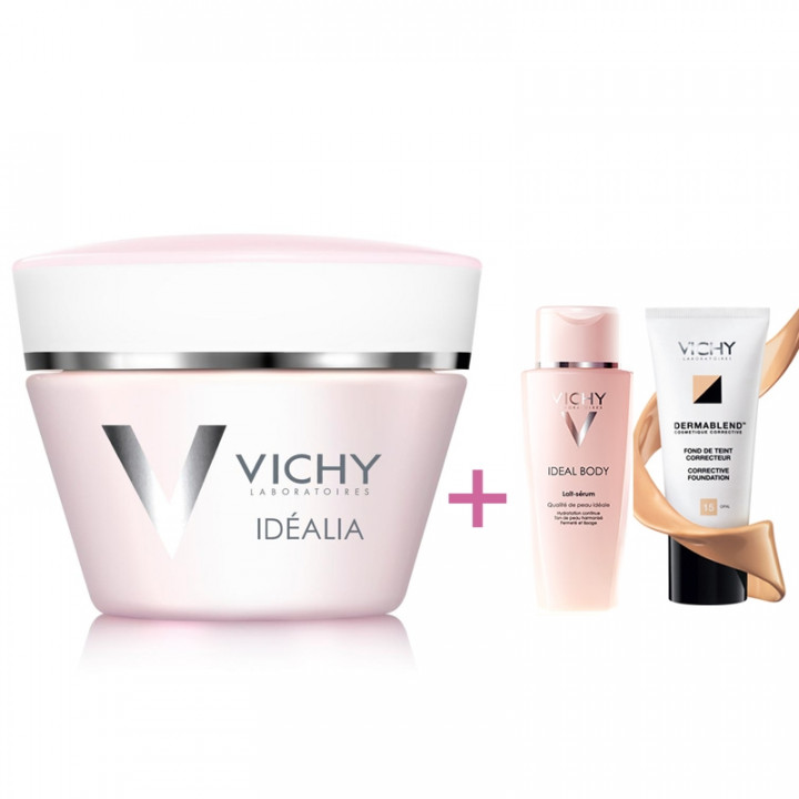 Vichy Idealia 50ml + Idealia Body Serum 30ml+ Dermablend Fluide 10ml