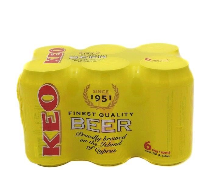 KEO BEER  CAN 6*330ML