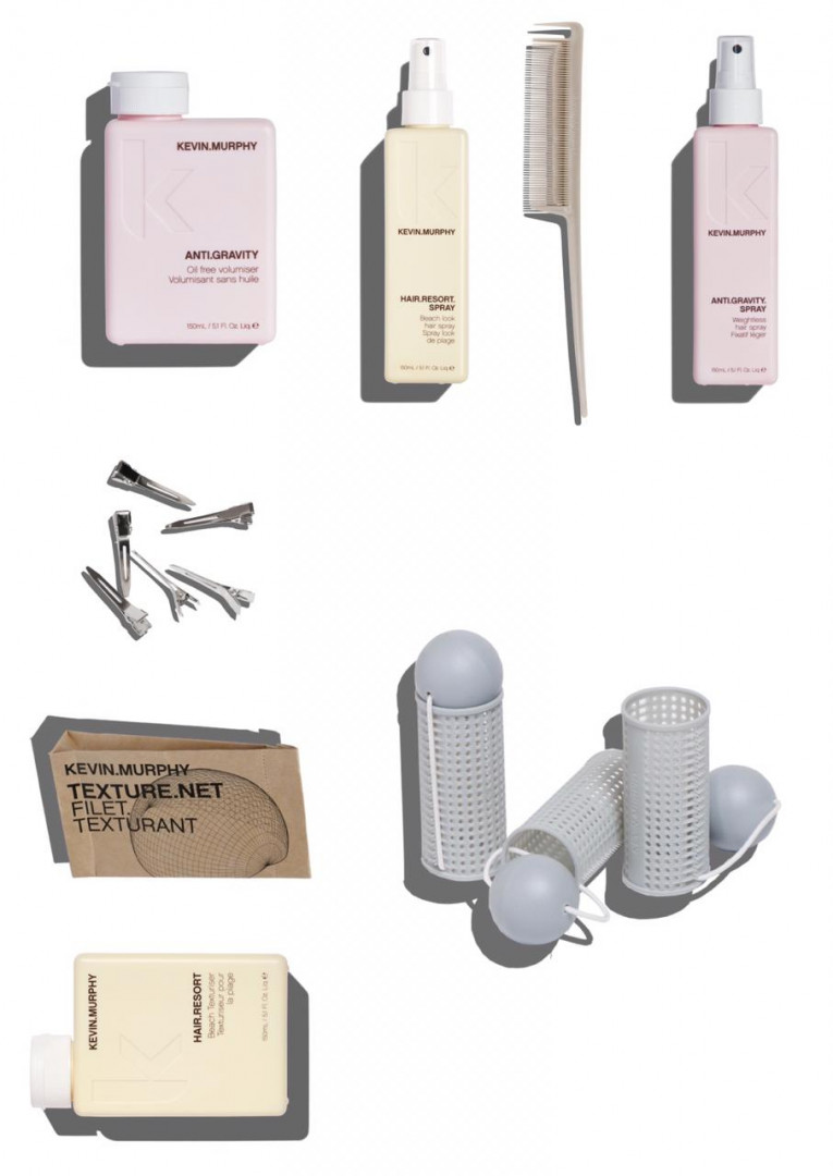 Kevin Murphy Medium.Curlers Styling Kit with Hair Resort Spray 150ml