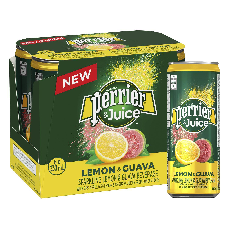 Perrier Juice Lemon Quava 24*25CL Can