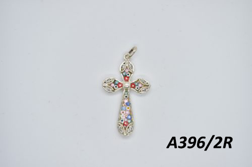 Handmade Christian cross - Silver 925% - Small