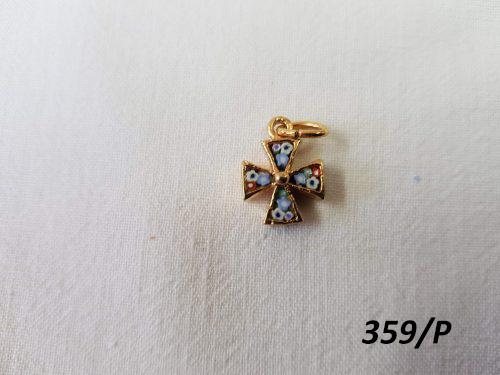 Handmade Christian cross - Gilded Brass