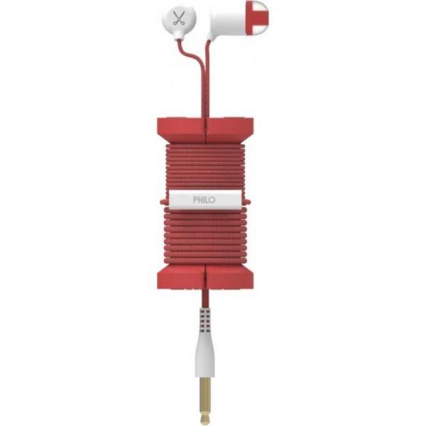 PHILO SPOOL EARPHONES RED