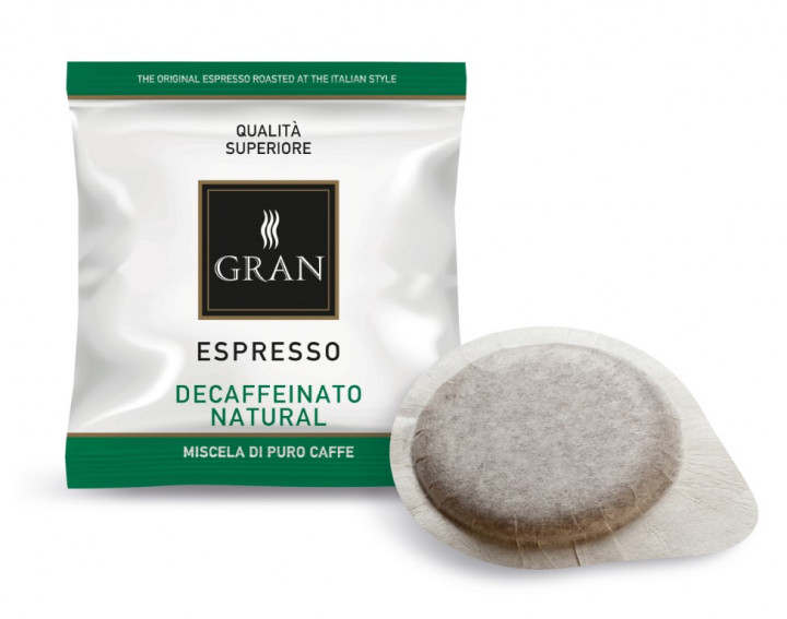 GRAN Caffe | DECAF NATURALE | E.S.E. 100 Pods - 1150gr