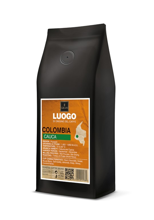 Luogo   Colombia Cauca   Roasted Coffee Beans - 1000gr