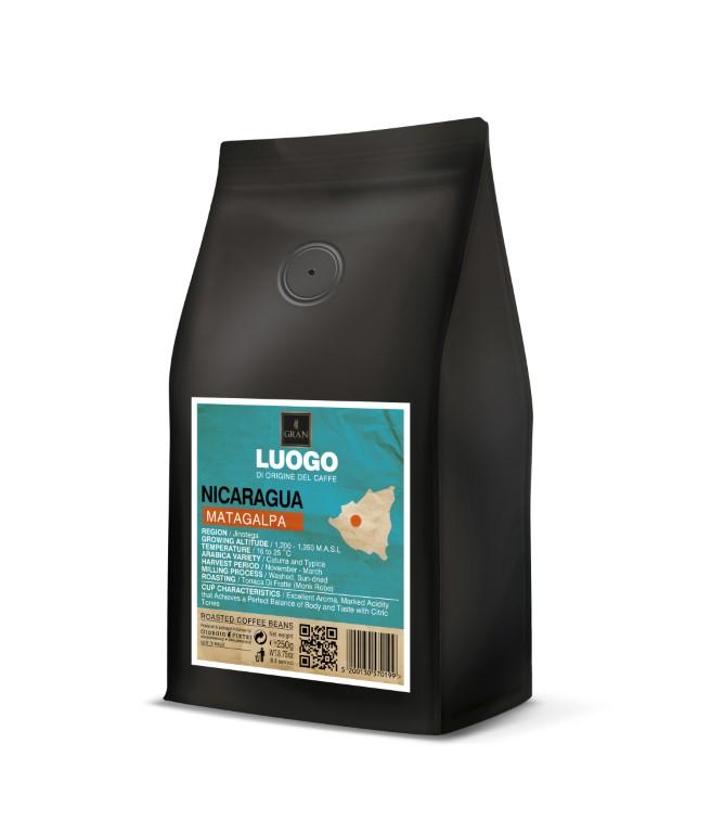 Luogo | Nicaragua Matagalpa | Roasted Coffee Beans | Bag 250g  - 250gr