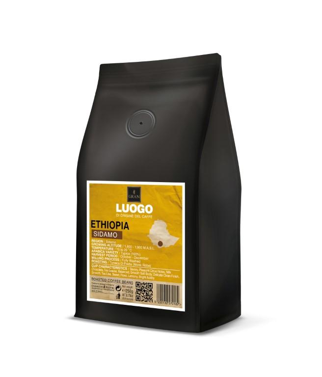 Luogo | Ethiopia Sidamo | Roasted Coffee Beans | Bag 250g  - 250gr