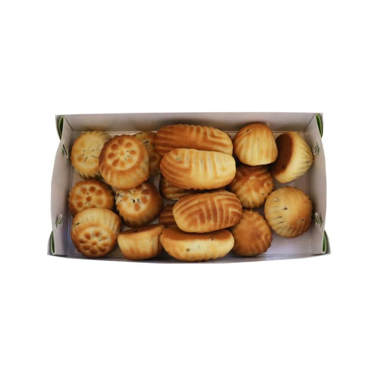 BOX OF LEBANESE MAMOUL MIX (PISTACHIOS, WALNUTS, DATES) - 500gr
