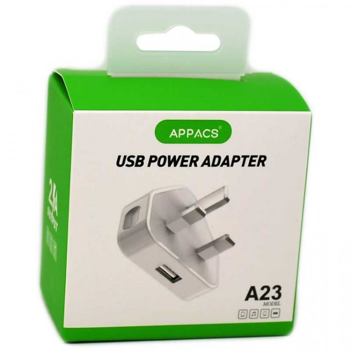 Appacs A23 USB Charger Charging 1A