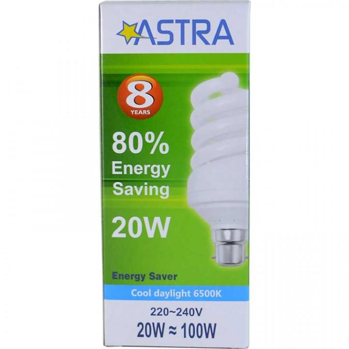ASTRA SAVING LAMP B22/20W-100W C.D.L