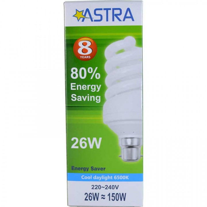ASTRA SAVING LAMP B22/26W=150W C.D.L