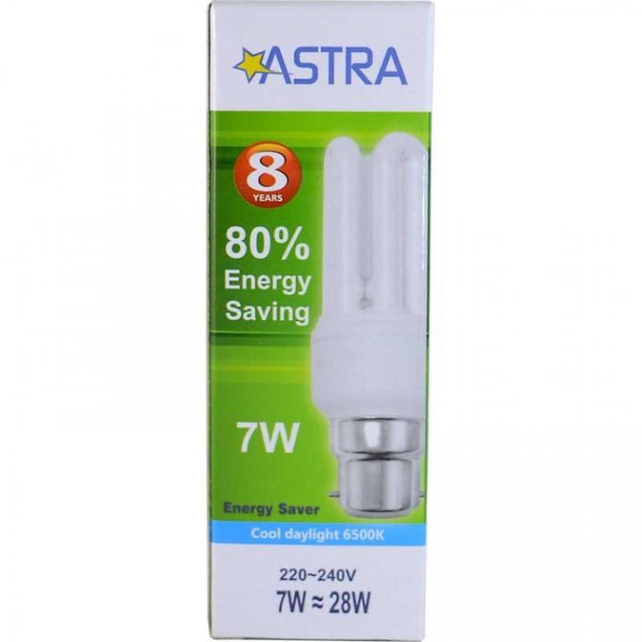 ASTRA SAVING LAMP B22/7W=28W C.D.L 290LM