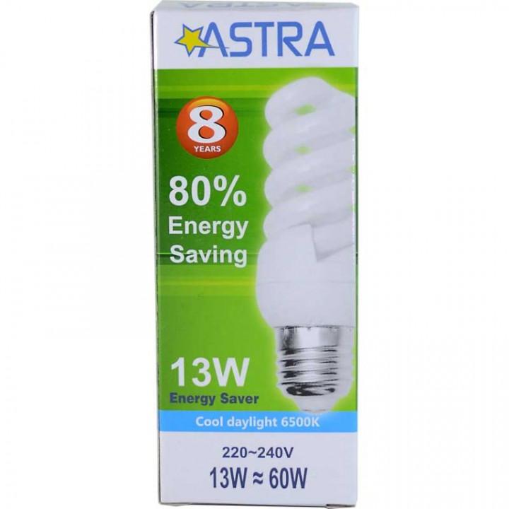 ASTRA SAVING LAMP E27/13W=60W C.D.L 663LM