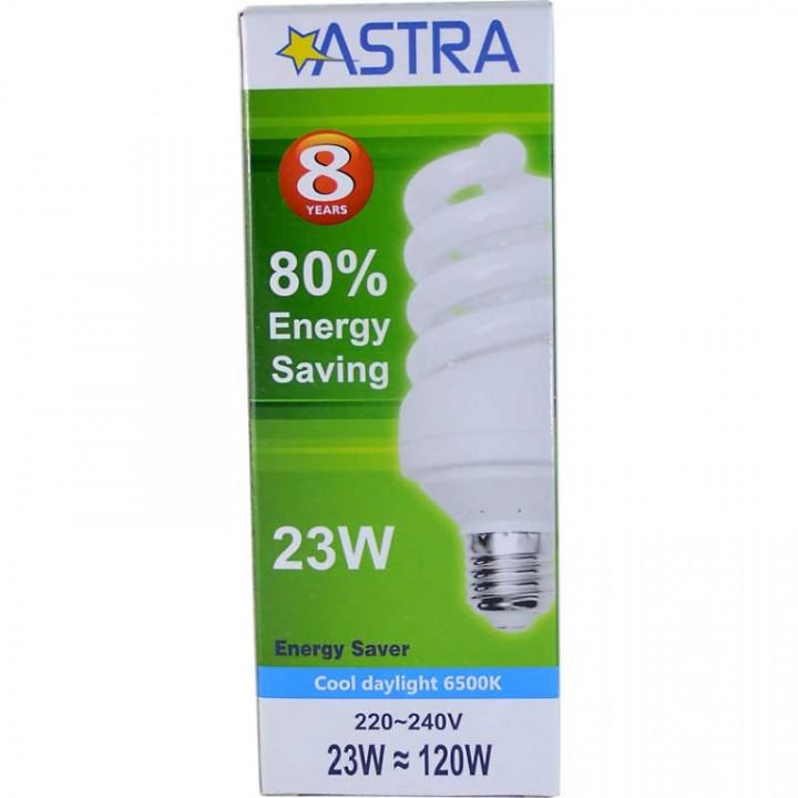 ASTRA SAVING LAMP E27/23W=120W C.D.L.