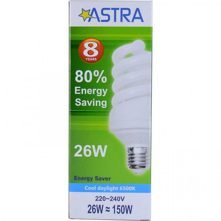 ASTRA SAVING LAMP E27/26W=150W C.D.L.