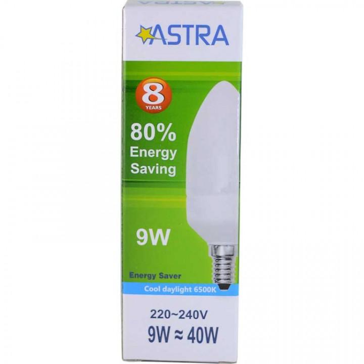 ASTRA SAVING CANDLE LAMP - 37 E14/9W=40W