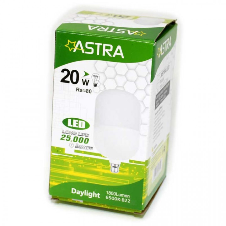 LAMP LED ASTRA B22/20W  = 160w 1800LUME