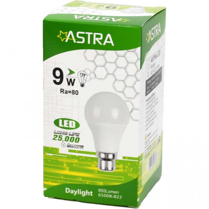 LAMP LED ASTRA B22/9W=72W 810LUMEN BOX