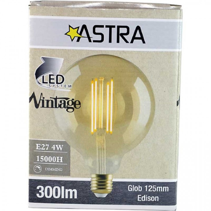LAMP LED VINTAGE DIMMABLE G125 E27/4W