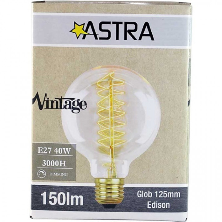 LAMP VINTAGE DIMMABLE BROWN G125 E27/40W