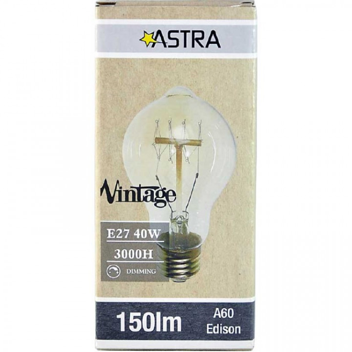 LAMP VINTAGE DIMMABLE BROWN A60  E27/40W