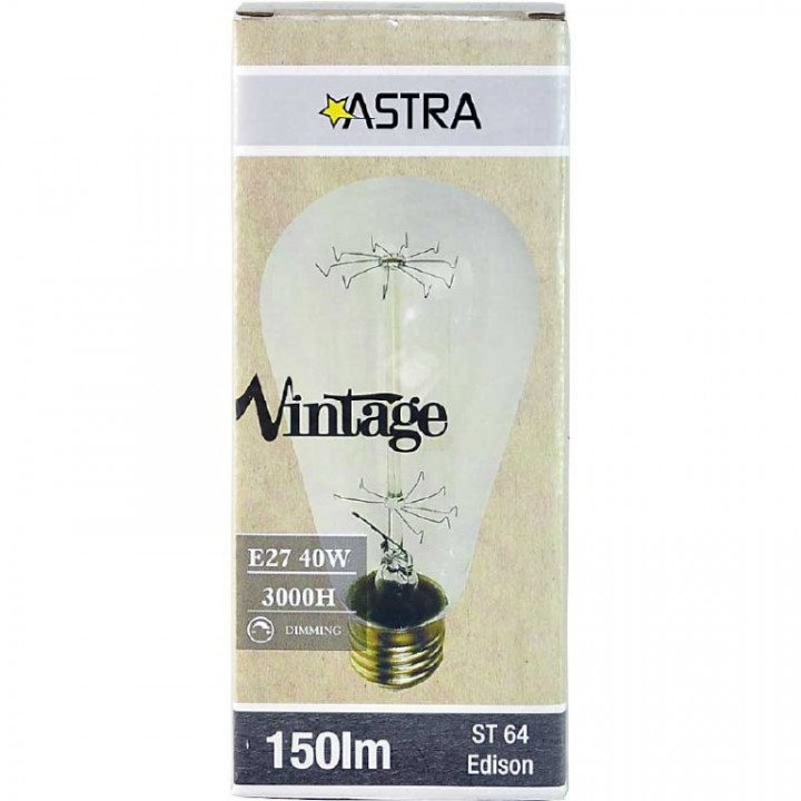 LAMP VINTAGE DIMMABLE BROWN ST64 E27/40W