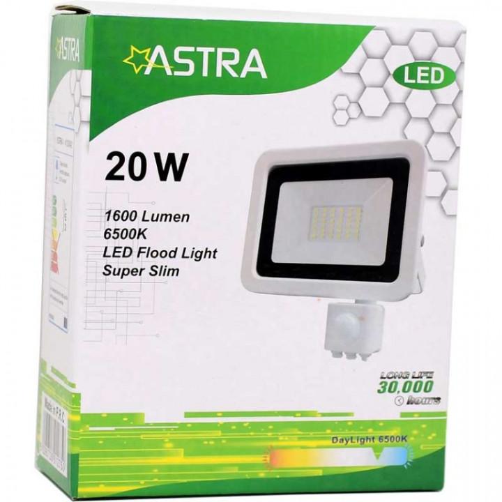 FLOOD LIGHT LED 20W+SENSOR IP65 - ASTRA
