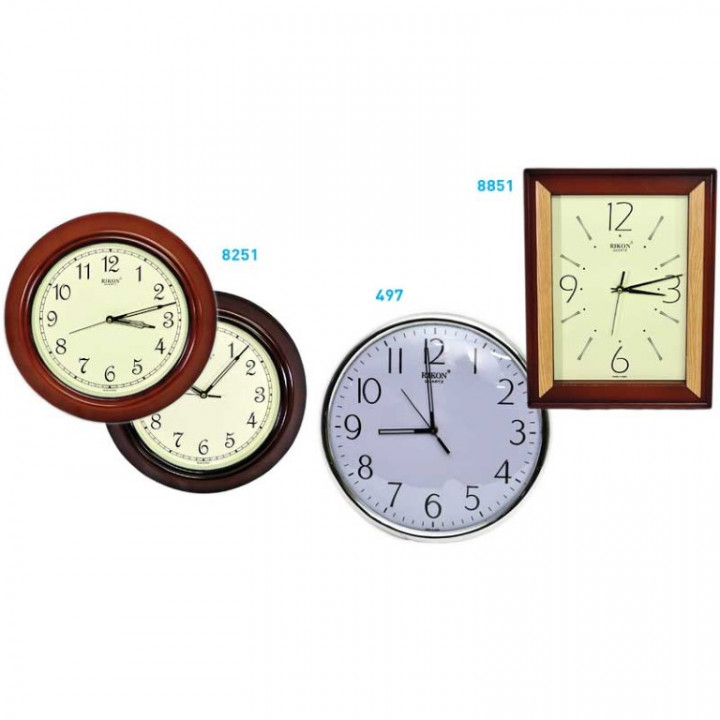 WALL CLOCK - QUARTZ 6 MODESL 497-8251