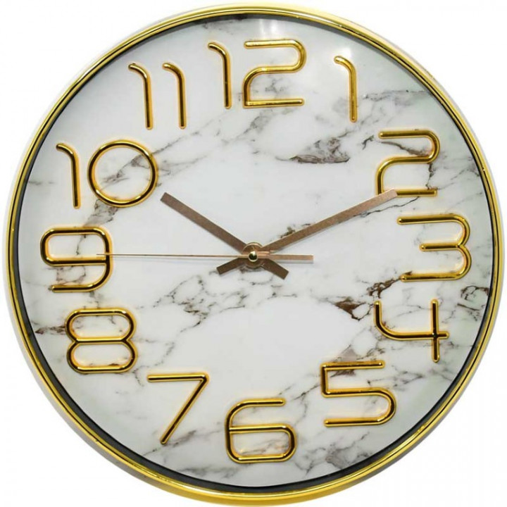 WALL CLOCK GOLDEN - 10 inch