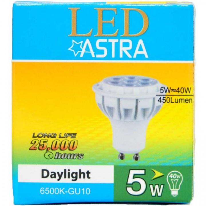 SPOTLIGHT LED ASTRA GU10 BL-5W - PACK
