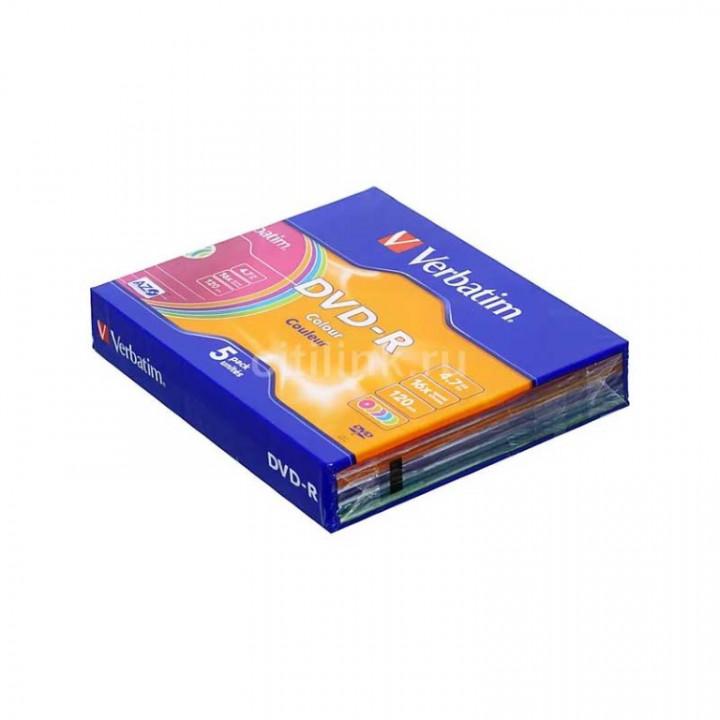 VERBATIM DVD-R 16XCERTIFIED 5PCS PACK