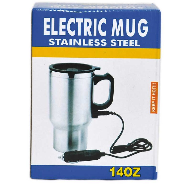 MUG -ELECTRIC 12V WITH CAR CHARGER