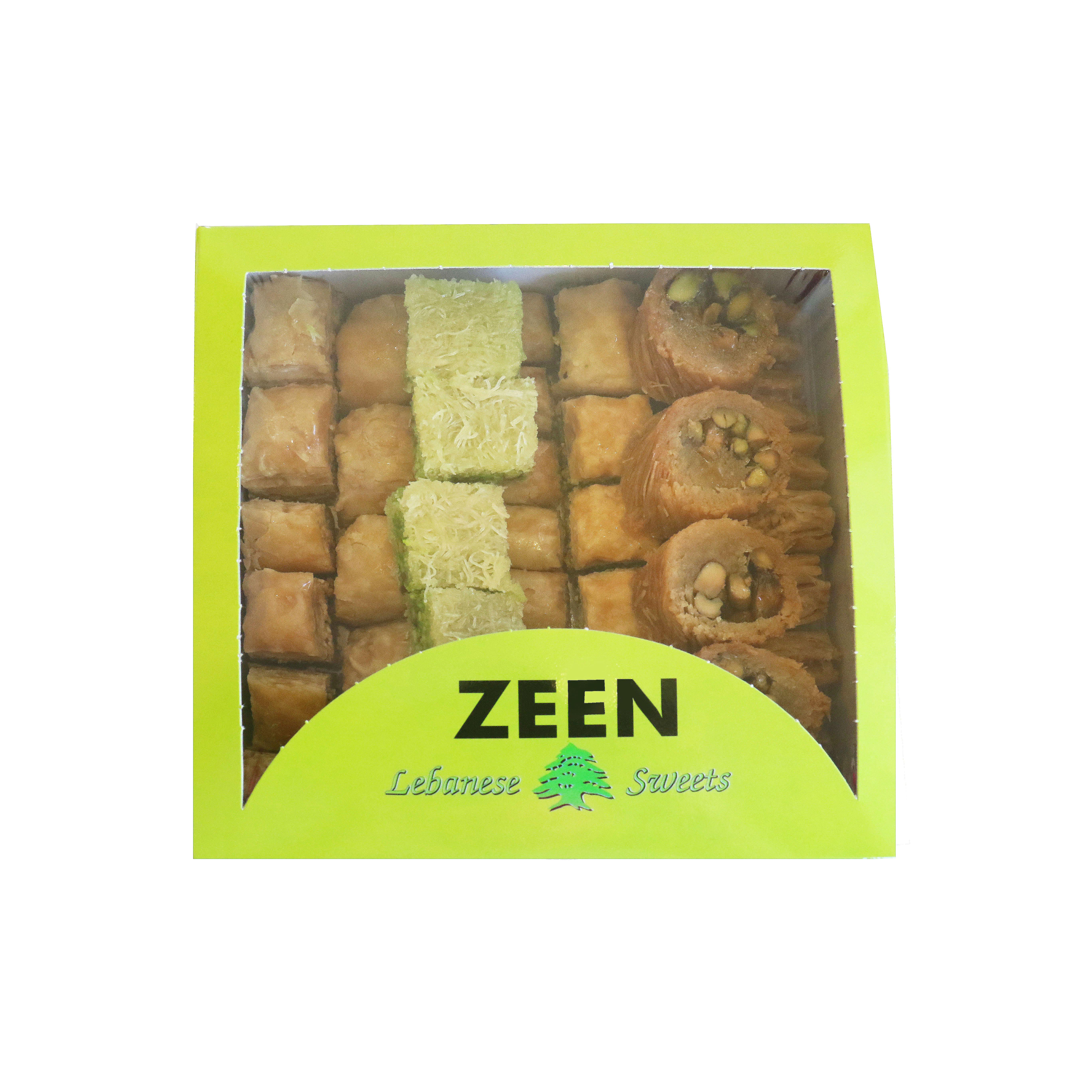BOX OF LEBANESE SWEETS (BAKLAVA) MIX (PINE NUTS, CASHEWS, PISTACHIOS) - 1kg